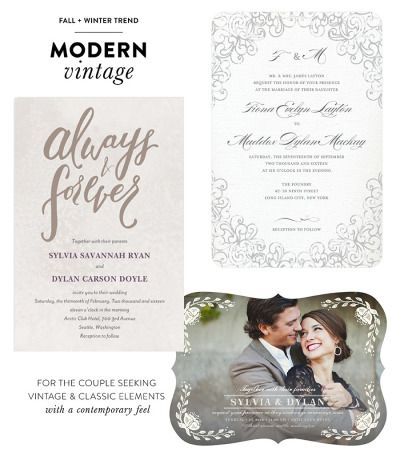 Fall + Winter Trends by Wedding Paper Divas