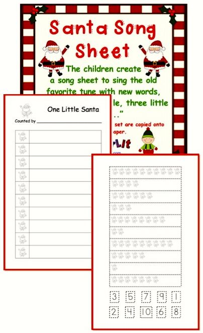 Add fun to your math in December with this cute song sheet activity!  More than just counting, it teaches number identification, number order and one-to-one correspondence. ($)