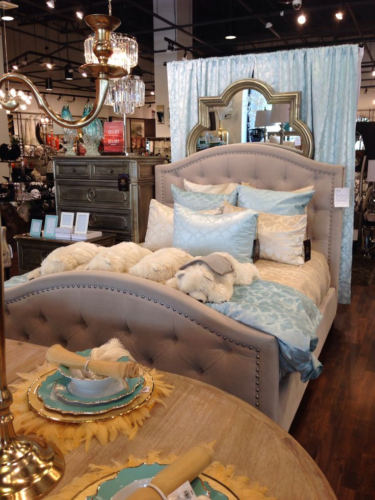 Nicolette Bed Shown In Bella Pearl Zgallerie Bedroom