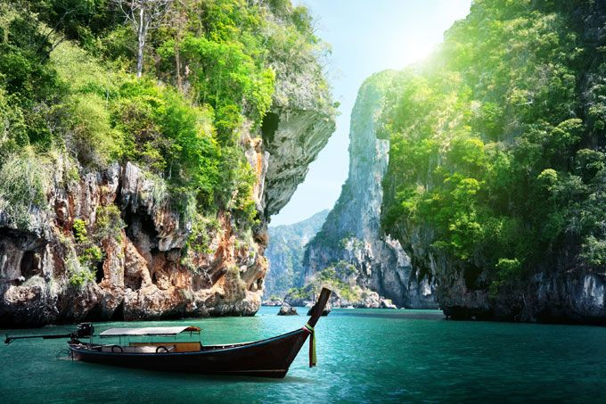 Krabi, on Thailand's west coast, is a popular departure pont for those going to Koh Phi Phi, where The Beach was filmed.