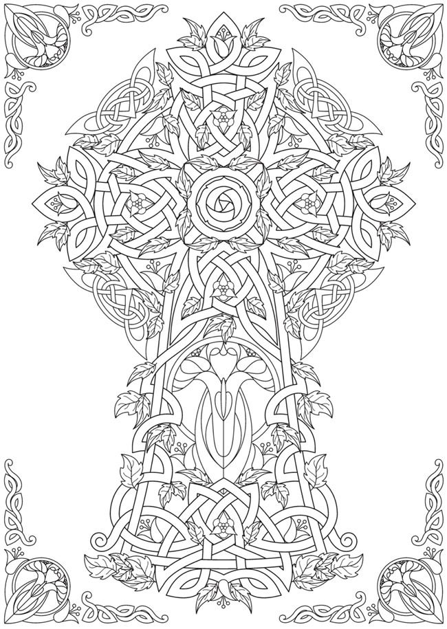 Welcome to Dover Publications	 From: Creative Haven Deluxe Edition Celtic Nature Coloring Book