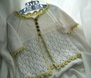 Laci Bebe Cardi - knitted baby girl sweater cardigan
