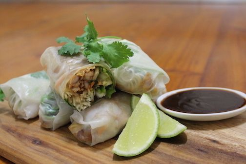 Rice Paper Rolls with Honey Soy Chicken