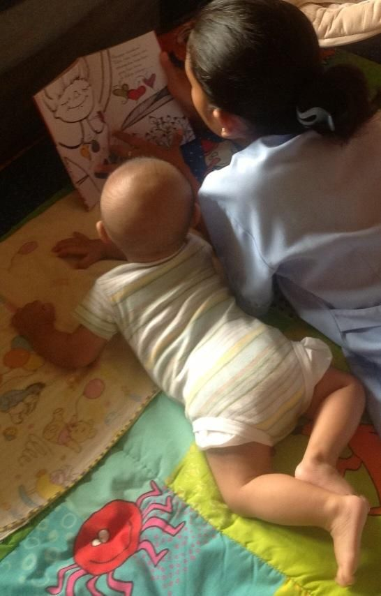 """Dewi M. Wisesa loves reading """"Le Papillons de Victor"""" to her baby"""