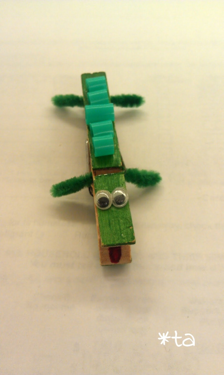See you Later Alligator - Clothspin Alligator craft.  Great for Lyle Lyle Crocodile activity.