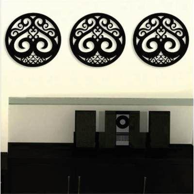 Aplique Decorativo De Parede Trio De Mandalas Em Mdf 3mm - R$ 69,90 em Mercado Livre