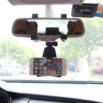 Only US$7.99, buy best Universal Car Phone Holder 360 Degrees Rearview Mirror Mount Auto Mobile Scaffold sale online store at wholesale price.US/EU warehouse.