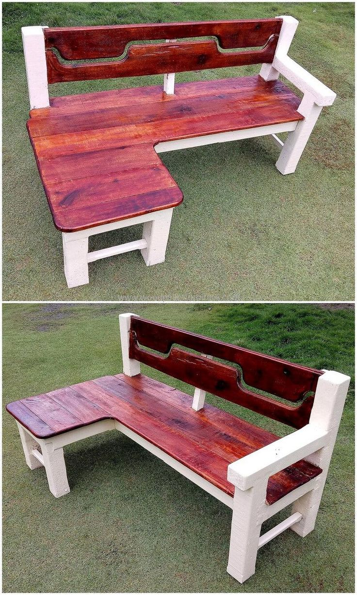 recycled pallets garden bench idea
