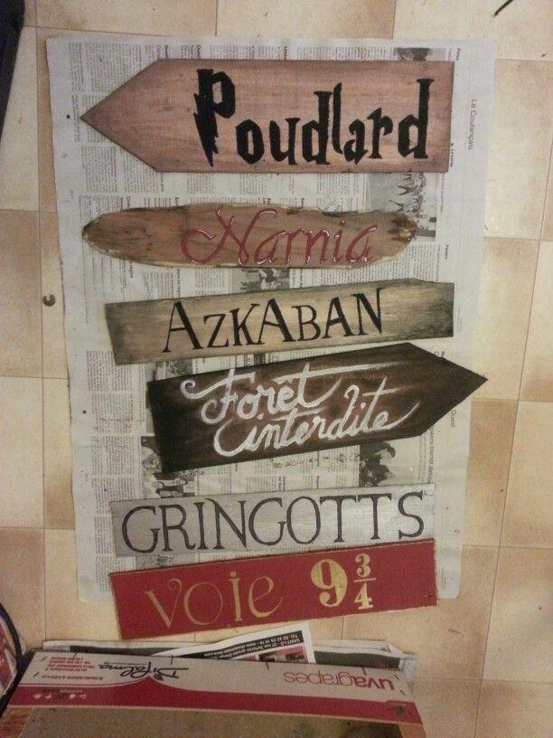 Panneaux directions poudlard azkaban foret interdite for Chambre harry potter