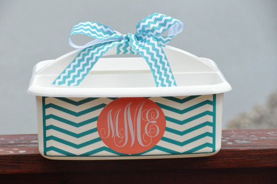 Personalized Caddy!  Perfect for school supplies, dorm rooms, sorority, cleaning supplies, teacher gift...you name it!
