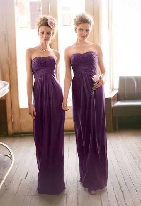 long purple Bridesmaid Dresses UK