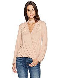 New Taylor  Sage Taylor and Sage Women's Long Sleeve Wrap Top With Choker Detail online. Find the perfect Kimmery Tops-Tees from top store. Sku WBZF11767TZRP54023