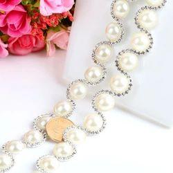Новый алмазный цветок цепи дрель цепи шить свадебный костюм свадебный головной убор ювелирных изделий цепи когтя алмазов цепи круглый цветок цепь