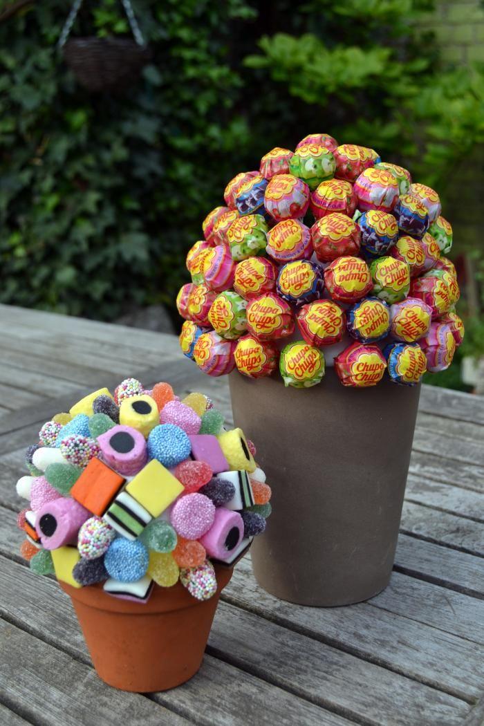 Verjaardag - Zelfgemaakte snoepjesboom voor communie- of lentefeest - Vrije tijd…