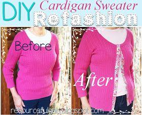 DIY Cardigan Sweater Refashion