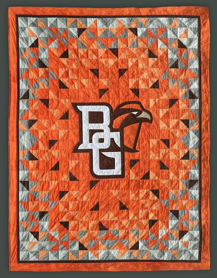 A personal favorite from my Etsy shop https://www.etsy.com/listing/264788134/bowling-green-state-university-full-size