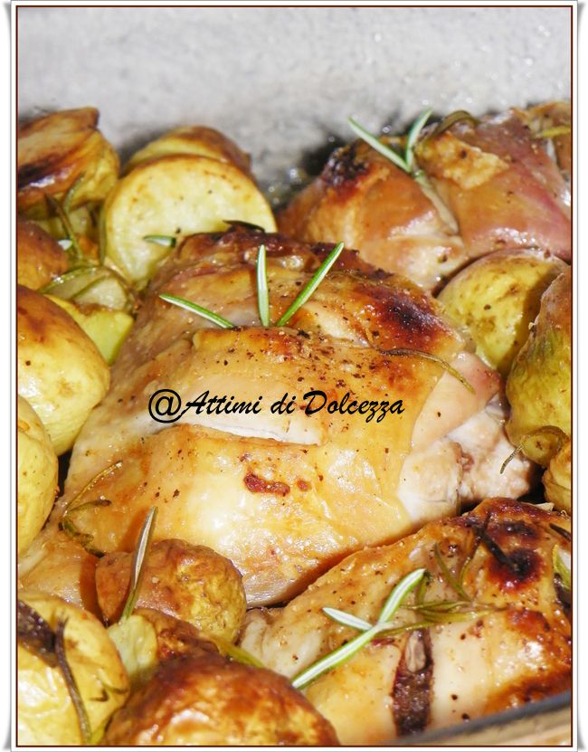 SOVRACOSCE DI POLLO AL FORNO CON PATATE / Thigh CHICKEN WITH BAKED POTATOES