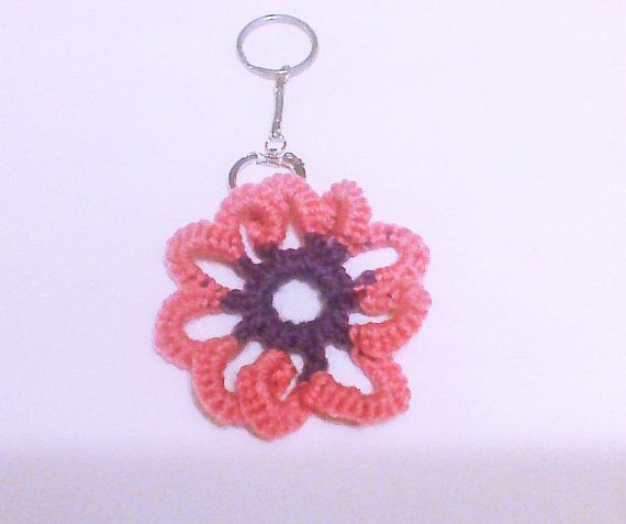 Crochet keychain Flower keychain Keychains Key by HandmadeTrend, $6.00