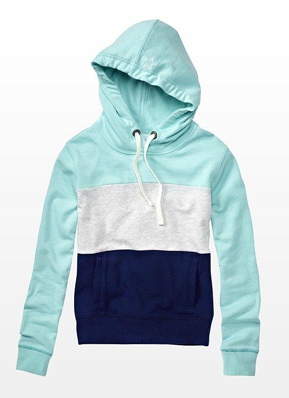 Color Block Hoodie - use to lengthen too short hoodies