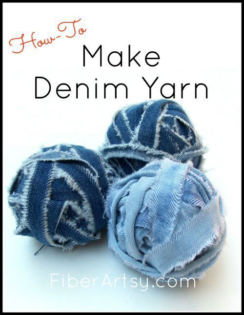 How to Make Denim Yarn from Old Jeans - Make your own yarn from an old pair of jeans! This step by step tutorial will show you how