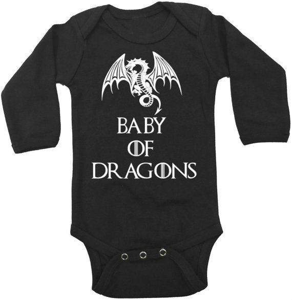 Game of Thrones Onesie / Baby of Dragons by CutieButtsBoutique