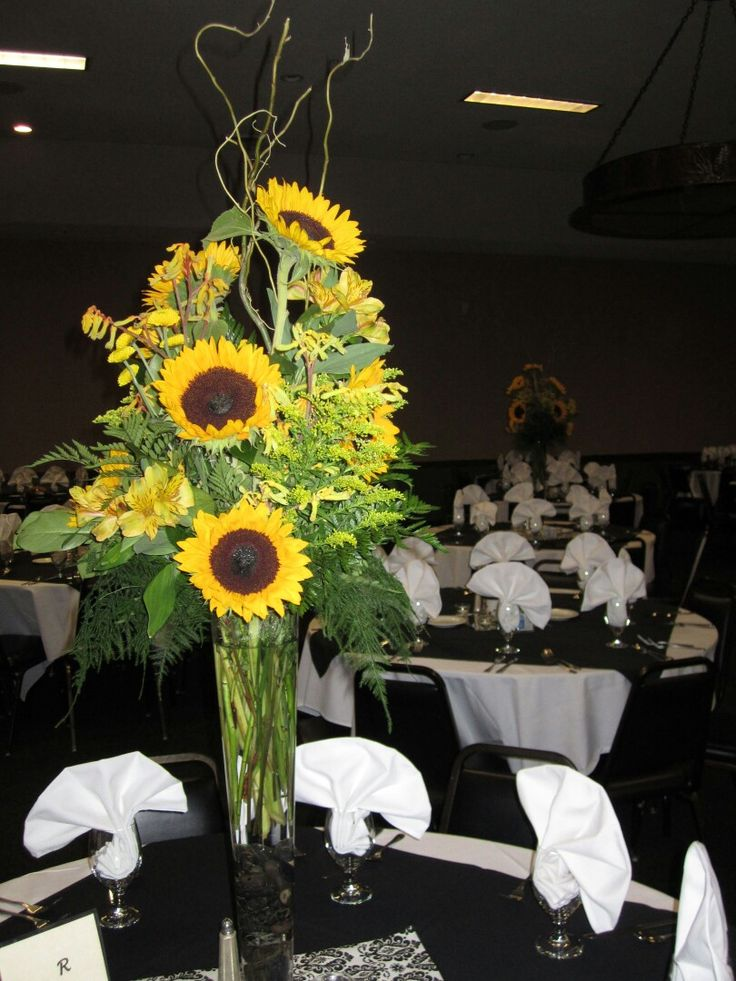 Sunflower centerpieces sunflowers and on