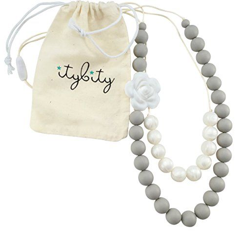 "Gifts ideas :""Baby Teething Necklace for Mom Silicone Chew Beads 100% BPA Free - Custom Soft Gray/Pearl- "" -- Unbelievable product right here!"