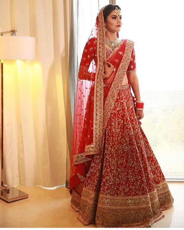 This red Lengha is beautiful