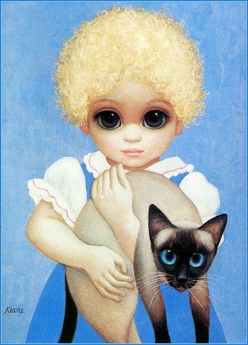 Большие глаза на картинах Маргарет Кин (Margaret Keane)