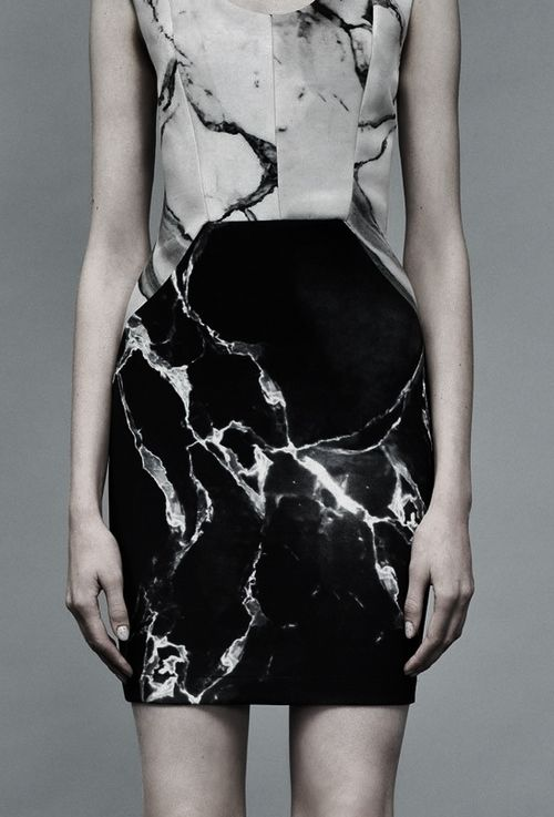 Robert Rodriguez Spring 2014, marbled effect.
