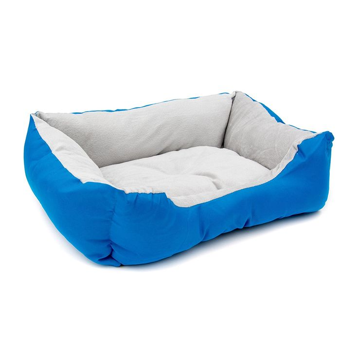 ALEKO PB06BL 20 x 16 x 6 Inch Soft Plush cat Cushion Crate Bed for Cats and Dogs, Blue >>> You can get more details here : Cat Beds and Furniture