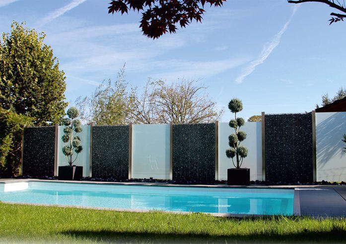 MARTINO DESIGN - Sichtschutz, Edelstahl, Gabionen, Palisaden - gartengestaltung reihenhaus pool