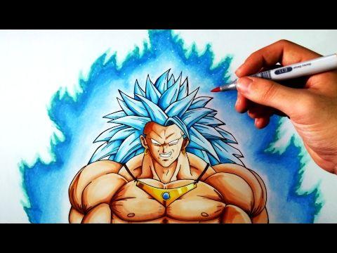 Cómo Dibujar a Broly SSJ3 Dios azul | Dragon Ball | ArteMaster - YouTube
