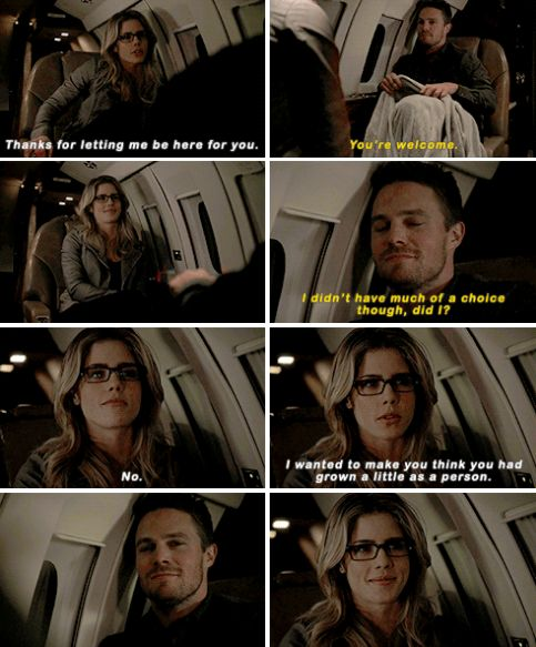 """""""Thanks for letting me be here for you"""" - Felicity and Oliver #Arrow"""