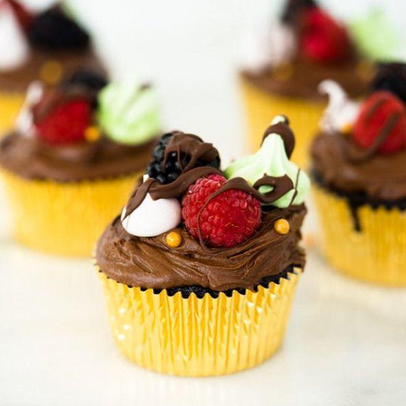 Chocolate Fudge Cupcakes Recipe Cupcake Recipes Dessert