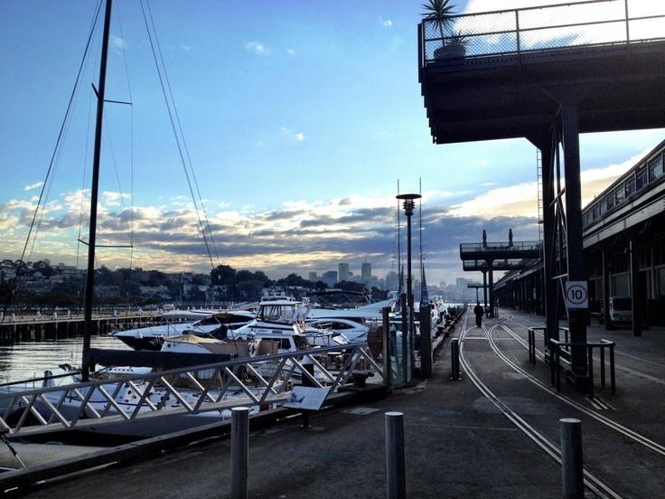 JB at Jones Bay Wharf 'Morning coffee with a view!' (Pyrmont, Sydney, Australia)