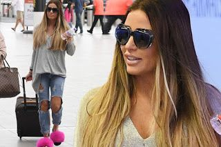 Celebrity News: Katie Price travels in pink slippers to the airpor...