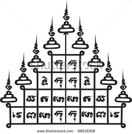 Thai Tattoo Ancient. Vector Template - 88019308 : Shutterstock