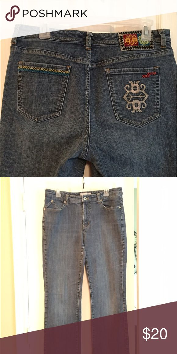 Chico jeans Great fitting Chico's Platinum cotton spandex jeans. Chico's Jeans Straight Leg