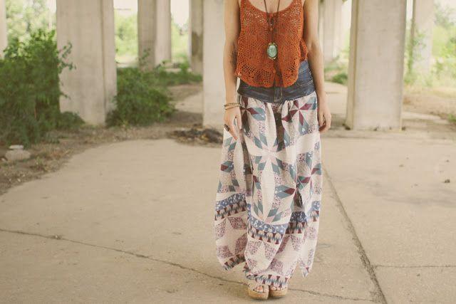 Make a Prairie Skirt from Denim Cutoffs via Brit + Co.