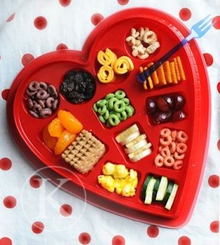 Make a special lunch, dinner or snack on Valentine's Day using an empty chocolate box.