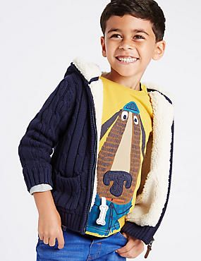 Pure cotton Lined Knitted Cardigan (1-7 Years)