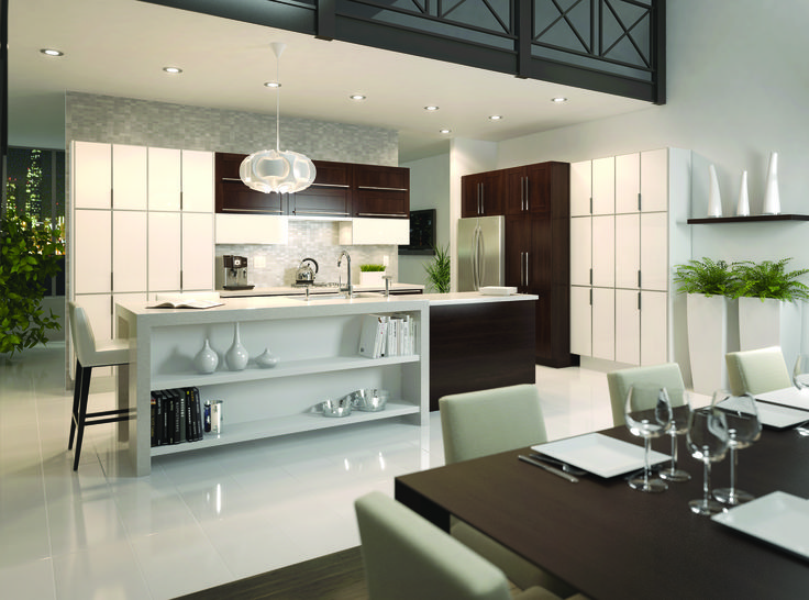 Instant Kitchen Cabinets : Contemporary kitchen from fabritec instant fallidays