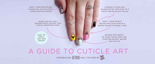 Rad Nails is selling 4 kinds of cuticle tattoos | Cuticle Tattoos Are The Next Era Of Nail Art