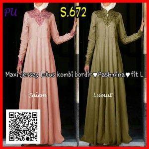 baju gamis modern pesta murah s672