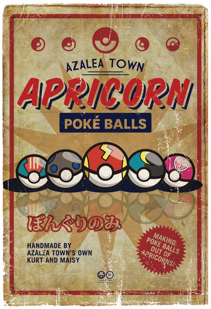 Apricorn Pokeballs by John Cheng