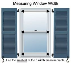 measuring for shutters