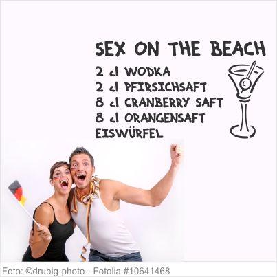 Wandtattoo Küche - Cocktail Sex on the Beach