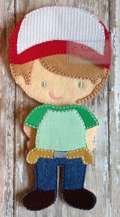 Handy Manny Felt Boy Doll Outfit by NettiesNeedlesToo on Etsy, $8.00