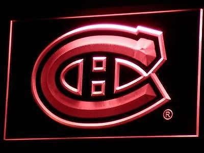 b091-r Montreal Canadiens Hockey NR Neon Light Sign